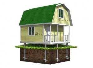 Какой фундамент под щитовой дом